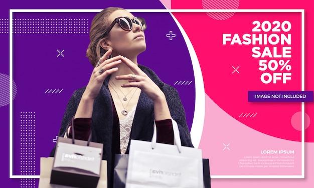 Szablon transparent sprzedaż promocyjna moda