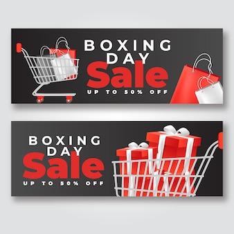 Szablon transparent sprzedaż realistyczne drugi dzień świąt