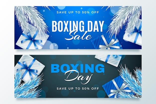 Szablon transparent sprzedaż realistyczny dzień boksu
