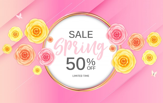 Szablon transparent sprzedaż streszczenie wiosna