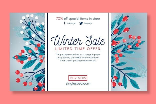 Szablon transparent sprzedaż zima