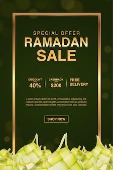 Szablon transparent sprzedaż złoty ramadan