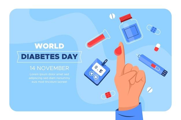 Szablon transparent światowego dnia cukrzycy