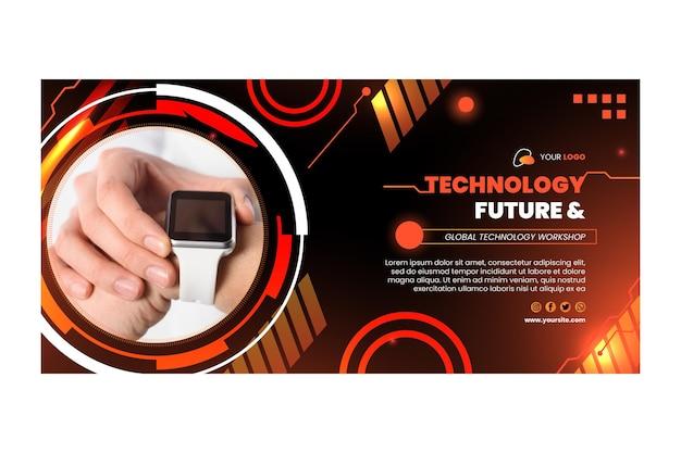Szablon transparent technologii i przyszłości