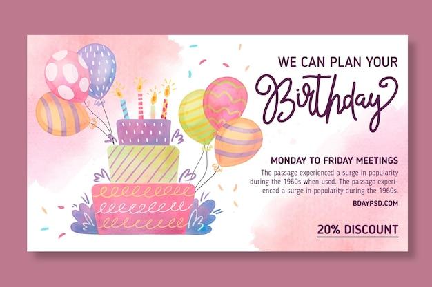 Szablon transparent urodziny dla dzieci