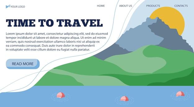 Szablon transparent wektor ilustracja do podróży światło do morza w stylu płaski