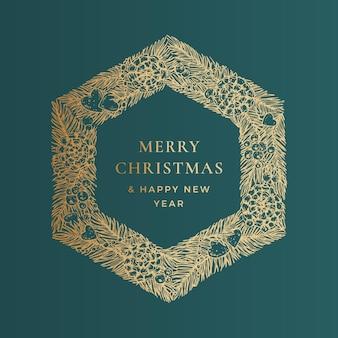 Szablon transparent wektor życzenia świąteczne