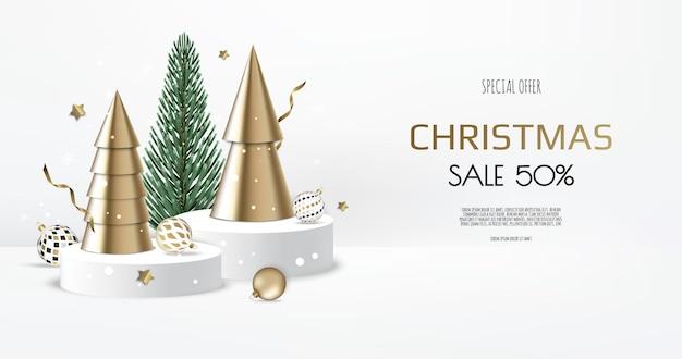 Szablon transparent wesołych świąt sprzedaży. kartka z życzeniami, baner, plakat, nagłówek strony internetowej