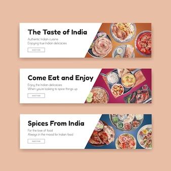 Szablon transparent z indyjskie jedzenie