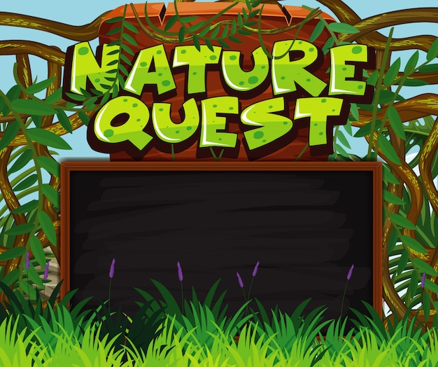 Szablon transparent z lasu w tle