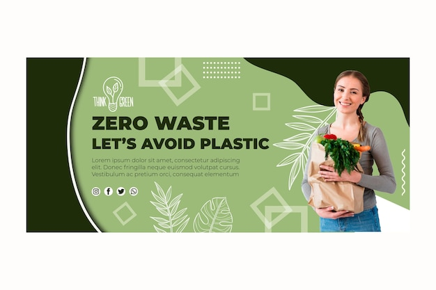 Szablon transparent zero waste