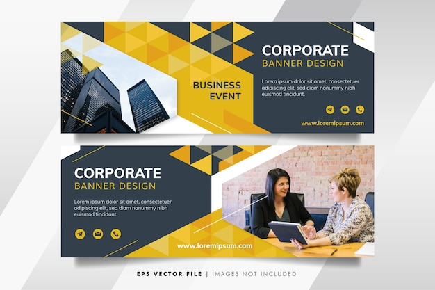 Szablon transparent żółty biznes