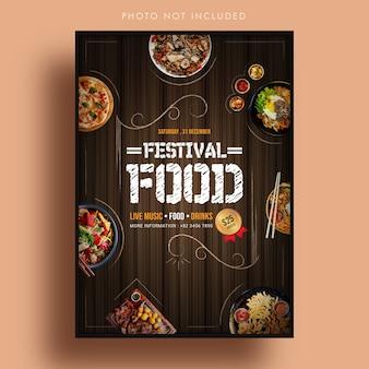 Szablon transparent żywności festiwalu