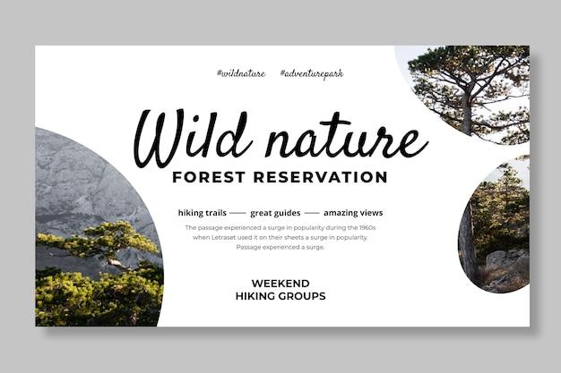 Szablon transparentu dzikiej przyrody