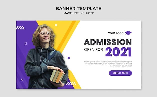 Szablon transparentu internetowego przyjęcia do szkoły