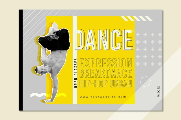 Szablon transparentu klasy tańca