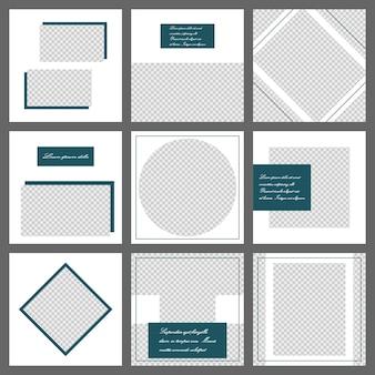 Szablon transparentu mediów społecznościowych. edytowalna makieta na osobisty blog, układ do promocji
