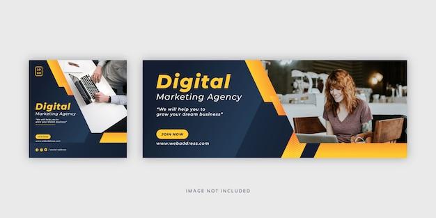 Szablon transparentu mediów społecznościowych marketingu cyfrowego