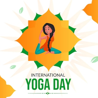 Szablon transparentu międzynarodowego dnia jogi