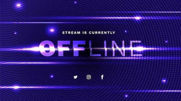 Szablon transparentu offline twitch
