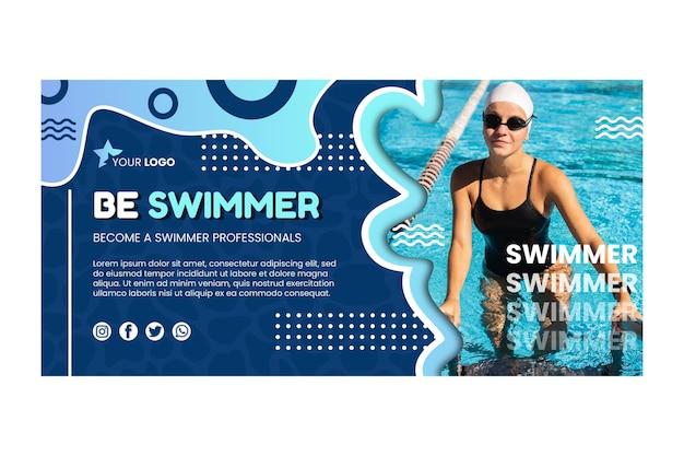 Szablon transparentu pływackiego