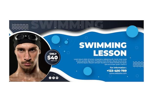 Szablon transparentu pływania ze zdjęciem