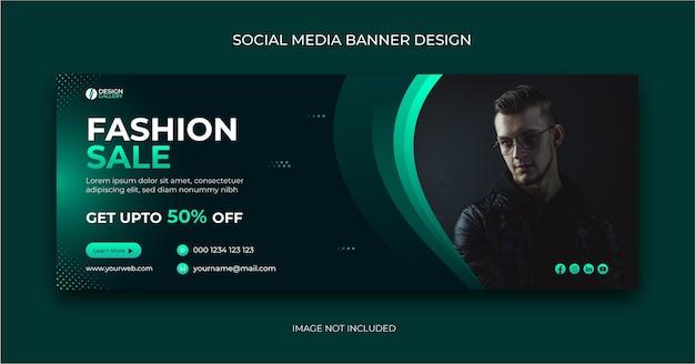 Szablon transparentu postu w mediach społecznościowych sprzedaży mody