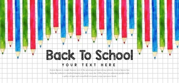 Szablon transparentu powrót do szkoły