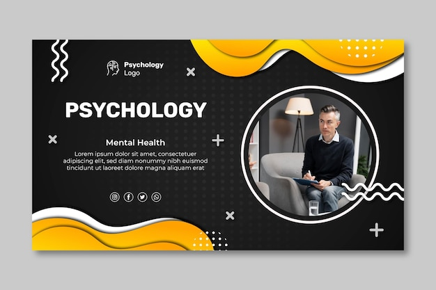 Szablon transparentu poziomego psychologii