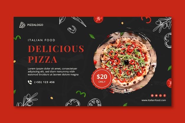 Szablon transparentu poziomego włoskiego jedzenia
