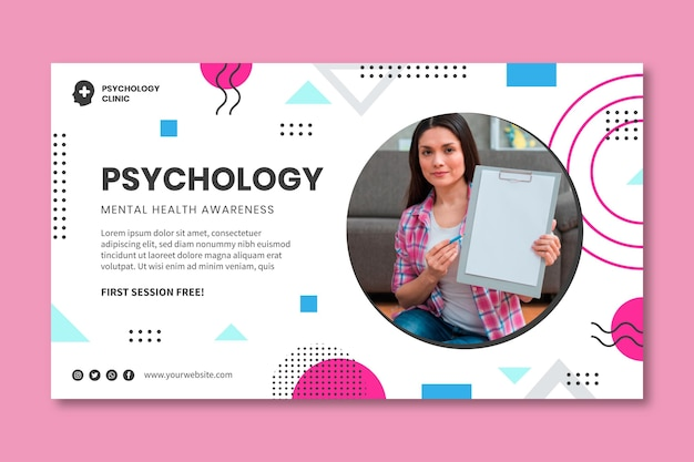 Szablon transparentu psychologii