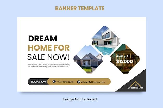 Szablon transparentu sprzedaży domu nieruchomości dla mediów społecznościowych