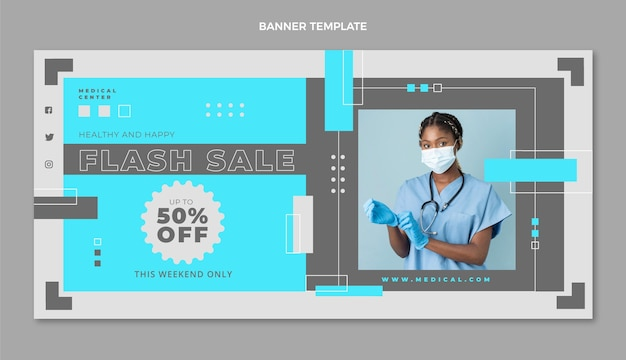 Szablon transparentu sprzedaży medycznej