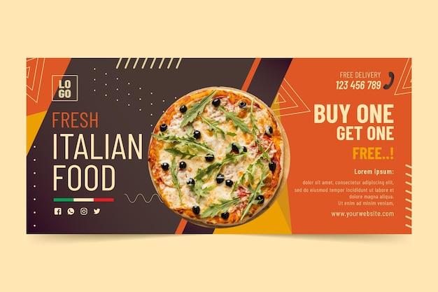 Szablon transparentu włoskiego jedzenia