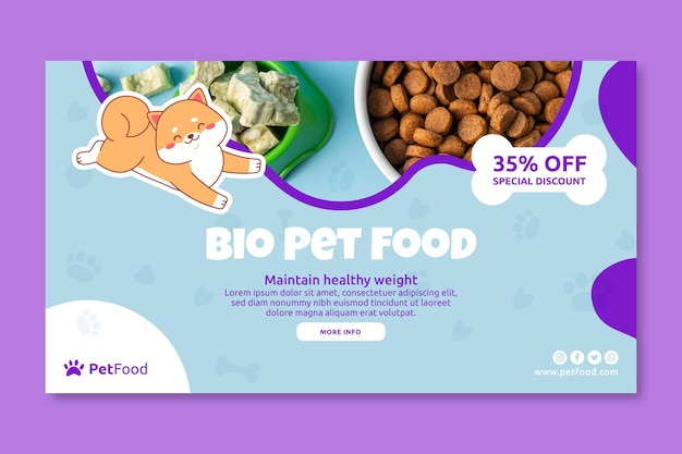 Szablon transparentu z jedzeniem dla zwierząt