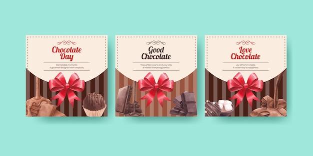 Szablon transparentu z koncepcją światowego dnia czekolady