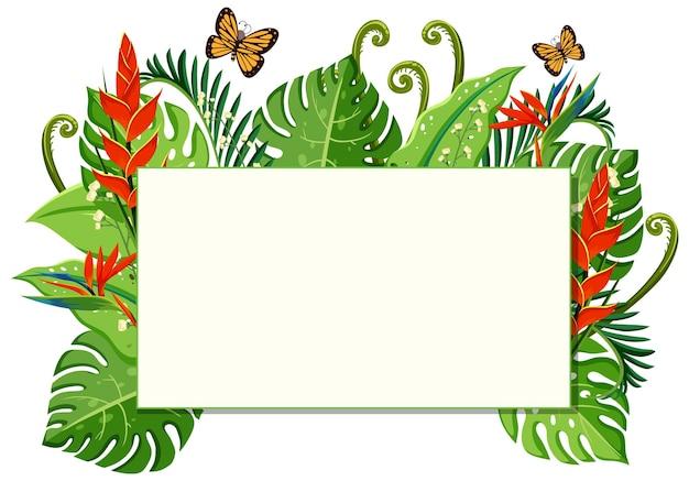 Szablon transparentu z kwiatowym wzorem