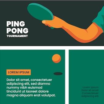 Szablon turnieju ping ponga