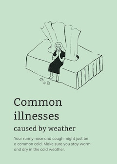 Szablon typowych chorób spowodowanych plakatem pogodowym