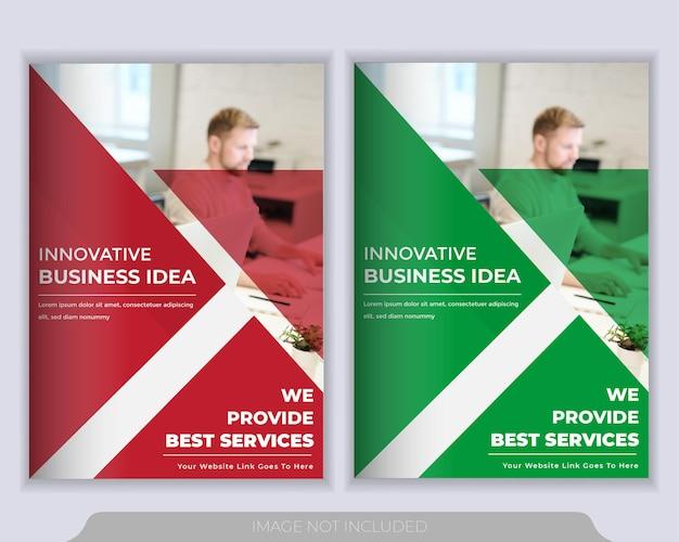 Szablon układu broszury lub ulotki. raport roczny, szablon prezentacji okładki książki
