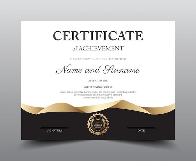 Szablon układu certyfikatu