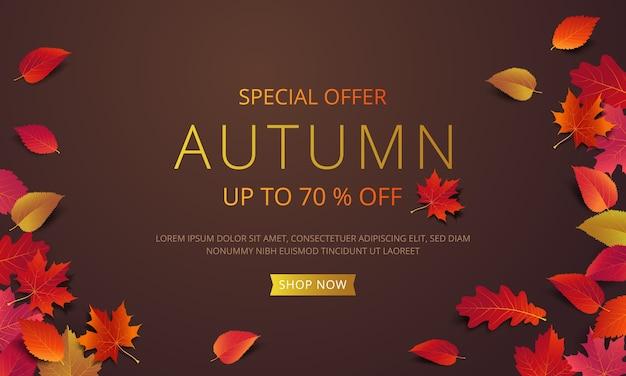 Szablon układu transparent jesień sprzedaży