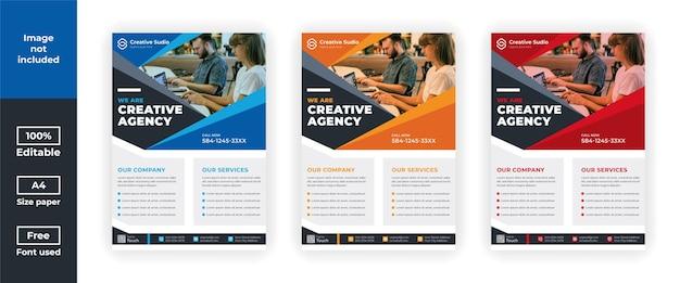 Szablon ulotki agencji kreatywnej