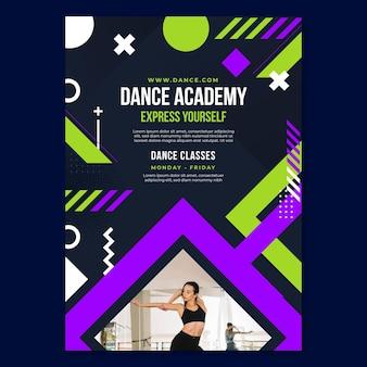 Szablon ulotki akademii tańca