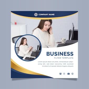 Szablon ulotki biznes kwadrat ze zdjęciem