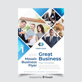 Szablon ulotki biznes mozaika