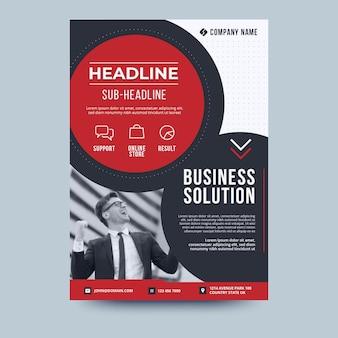 Szablon ulotki biznes rozwiązanie biznesowe