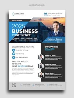 Szablon ulotki biznesowej konferencji