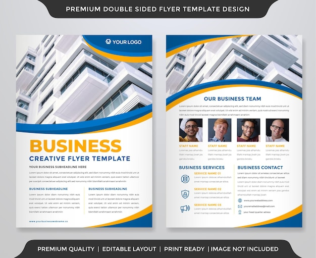 Szablon ulotki biznesowej w minimalistycznym stylu i nowoczesnej koncepcji