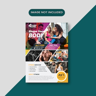 Szablon ulotki body fitness